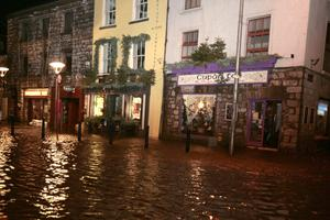 Businesses in Spanish Arch in Galway city suffered extensive damages due to 135 Kilometre wind and floods. Picture: Hany Marzouk