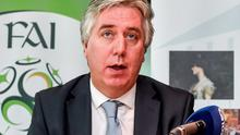 FAI chief executive John Delaney welcomed resignation