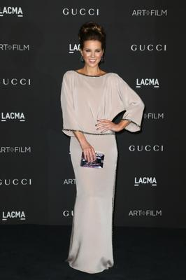 Actress Kate Beckinsale attends the 2014 LACMA Art + Film Gala honoring Barbara Kruger and Quentin Tarantino presented by Gucci at LACMA