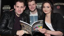 Irish actors Jack Reynor (Glassland, What Richard Did), Aisling Franciosi (The Fall, Quirke ) and director Gerard Barrett (Glassland, Pilgrim Hill)(Left) pictured launching the programme for the 2015 Jameson Dublin International Film Festival