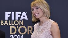 Stephanie Roche poses  during the red carpet ceremony at the 2014 FIFA Ballon d'Or award ceremony