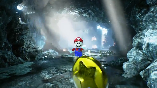 """Screenshot from """"Mario is Unreal"""" Youtube video"""