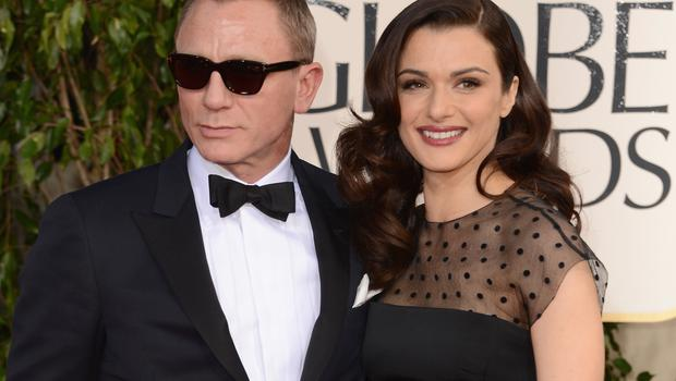 BEVERLY HILLS, CA - JANUARY 13:  Actors Daniel Craig and Rachel Weisz  arrive at the 70th Annual Golden Globe Awards held at The Beverly Hilton Hotel on January 13, 2013 in Beverly Hills, California.  (Photo by Jason Merritt/Getty Images)