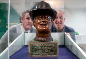 The bust at the National Football Stadium at Windsor Park (Presseye)