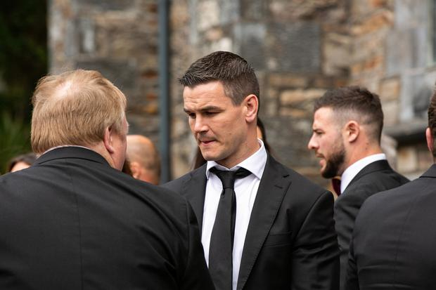 Johnny Sexton at Laura Smith and Cian Healy's wedding in Galway. Picture: Andy Newman
