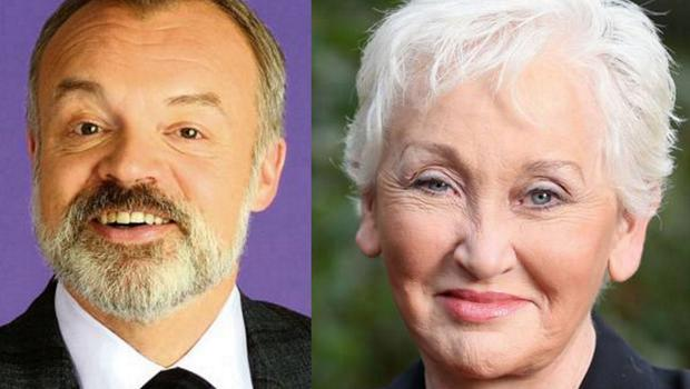 Graham Norton (left) and Terry Prone (right)