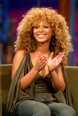 """Beyonce Knowles at """"The Tonight Show with Jay Leno"""" at the NBC Studios in Burbank, Ca. Tuesday, July 23, 2002. Photo by Kevin Winter/ImageDirect"""