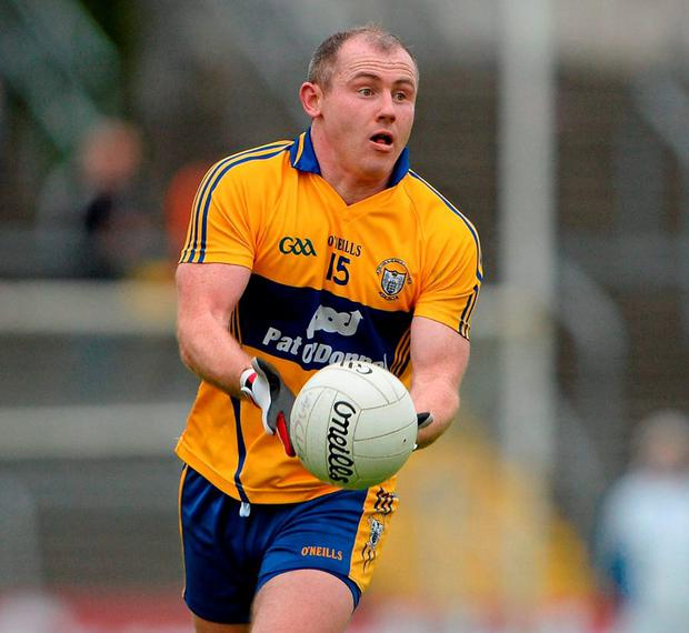 Dubliner Pat Burke has become an integral part of the Clare football squad who face Kildare in this evening's Division 3 final at Croke Park. Photo: Brendan Moran / Sportsfile
