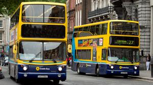 'Moving away from the four-lane design will require some restriction to car traffic, either by providing for local access only, introducing new one-way systems or holding motorists back a few seconds at each traffic light to ensure buses get through on time, every time' (stock photo)