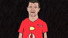 Roy Keane in cartoon form