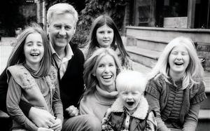 Nick Milligan, with his wife Victoria and children (from left to right) Emily, Olivia, Kit and Amber Photo: PA