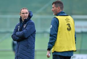 Martin O'Neill has strongly supported his assistant Roy Keane ahead of Ireland's friendly with the USA. Photo: Matt Browne / SPORTSFILE