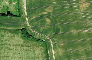Shadows from history:  Hidden ancient monuments came to light after millennia, revealed by last summer's drought and Google Maps/Earth images including this one at Donadea, Co Kildare