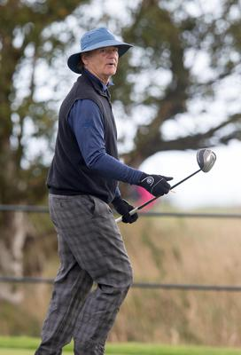 Actor and Comedian Bill Murray prepares to tee off at the 11th hole during round one of the Alfred Dunhill Links Championship at Carnoustie. Photo: Kenny Smith/PA Wire.