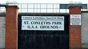 The gates to St Conleth's Park remained closed yesterday, but the Newbridge venue will be packed to the rafters for Satrurday's qualifier. Photo: Sportsfile
