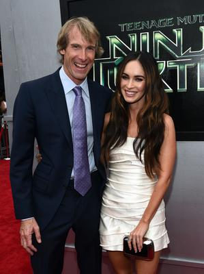 "Producer Michael Bay (L) and actress Megan Fox attends the premiere of Paramount Pictures' ""Teenage Mutant Ninja Turtles"" at Regency Village Theatre on August 3, 2014 in Westwood, California.  (Photo by Michael Buckner/WireImage)"