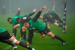 20 November 2014; Ireland's Rory Best during squad training ahead of their side's Guinness Series match against Australia on Saturday. Ireland Rugby Squad Training, Carton House, Maynooth, Co. Kildare. Picture credit: Stephen McCarthy / SPORTSFILE