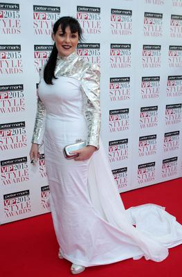 Jean Byrne on the Red Carpet at The Peter Mark VIP Style Awards 2015 at The Marker Hotel,Dublin. Pictures Brian McEvoy