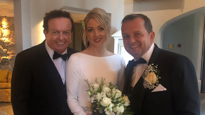 'Great team': Davy Fitzgerald and his wife Sharon O'Loughlin with Marty Morrissey