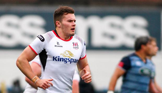 Jacob Stockdale in fine form for Ulster. Photo by Chris Fairweather/Sportsfile