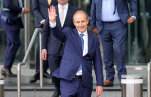 Unlikely allies: The new Cabinet has emerged under Taoiseach Micheál Martin after weeks of talks between Fianna Fail, Fine Gael and the Green Party. Photo: Frank McGrath