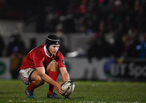 Edinburgh , United Kingdom - 3 February 2017; Tyler Bleyendaal of Munster during the Guinness PRO12 Round 13 match between Edinburgh and Munster at Myreside in Edinburgh, Scotland. (Photo By Ramsey Cardy/Sportsfile via Getty Images)
