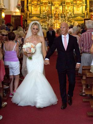 **ALL ROUND EXCLUSIVE PICTURES FROM SOLARPIX.COM** **WORLDWIDE SYNDICATION RIGHTS**                                                                                   Pics show the wedding of Irish rugby union player Peter Stringer and Deborah O'Leary. Peter, who plays at scrum-half for Sale and Ireland, married his sweetheart today at 1pm at Nuestra Senora de la Encarnacion at the Plaza de la Iglesia, in the old town of Marbella. This pic:  Peter Stringer and Deborah O'Leary JOB REF: 09.06.15  AB1  DATE: 09.06.15 **MUST CREDIT SOLARPIX.COM OR DOUBLE FEE WILL BE CHARGED** **MUST AGREE FEE BEFORE ONLINE USAGE** **CALL US ON: +34 952 811 768 or LOW RATE FROM UK 0844 617 7637**