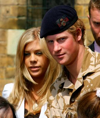 Prince Harry and Chelsy Davy leave a service of remembrance and thanksgiving at the Holy Trinity Church on May 5, 2008 in Windsor, England. (Photo by Ben Stansall/Getty Images)