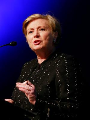 Justice Minister Frances Fitzgerald speaking at the conference in the Mansion House in Dublin yesterday. Photo: Conor Healy