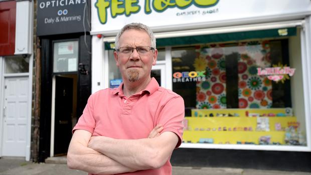 11/06/15. Noel Cocoman owner of Feet and Co. shoe shop in Drumcondra Dublin. Pic: Justin Farrelly.