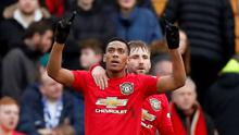 Anthony Martial celebrates scoring a goal during Man United's 6-0 win over Tranmere in the FA Cup. Action Images via Reuters/Andrew Boyers
