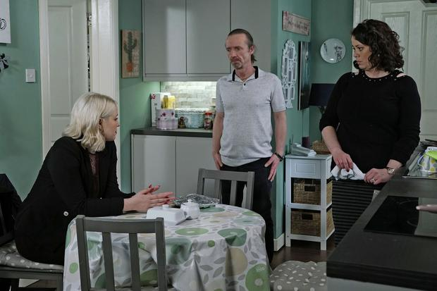 Hayley assures Anto and Sharon they are her real family