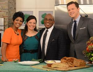 Celebrity chef Catherine Fulvio (second left) on NBC's Today Show with hosts Tamron Hall, Al Roker and Willie Geist. Photo: James Higgins