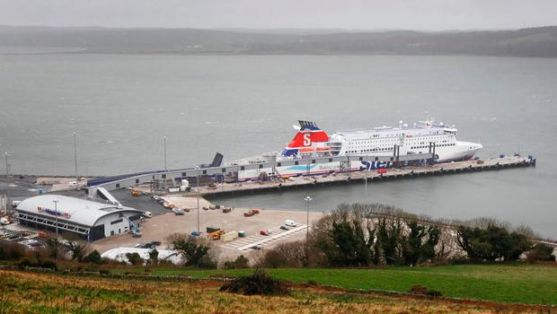 A ferry docked at Loch Ryan in Scotland Picture: PA