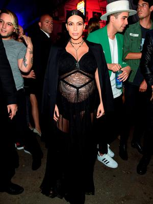 Kim Kardashian attends the Givenchy SS16 after party on September 11, 2015 in New York City.  (Photo by Jamie McCarthy/Getty Images)