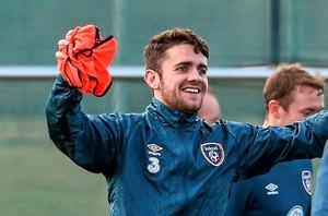 Robbie Brady has defied sceptical medical bulletins from Hull to report for Ireland duty
