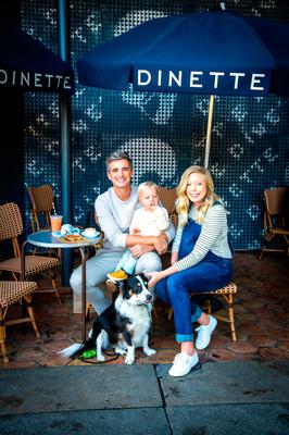 Homeward bound: Donal Skehan and his family are moving back to Ireland. Picture: Victoria Wall Harris