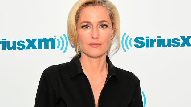 Actress Gillian Anderson visits at SiriusXM Studios on March 23, 2016 in New York City.  (Photo by Ben Gabbe/Getty Images)