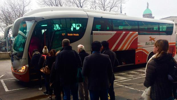 Unions demanded that the company withdraw its plan to close the X7 from Clonmel to Dublin – which will lead to job losses – at discussions at the Workplace Relations Commission