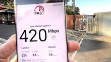 Adrian Weckler conducting speed tests on Three's 5G mobile network