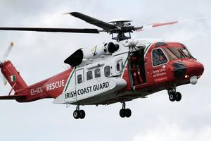 Rescue: A Coast Guard helicopter (stock image)