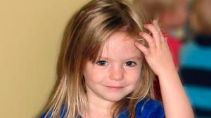 Still missing: The body of Madeleine McCann has never been found. Photo:  PA Wire