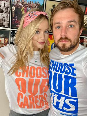 Laura Whitmore and Iain Stirling (ASOS/Choose Love/PA)
