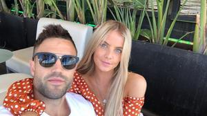 Conor Murray with girlfriend Joanna Cooper on holidays in Barcelona. Picture: Instagram