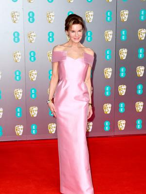 Renee Zellweger attends the EE British Academy Film Awards 2020 at Royal Albert Hall on February 02, 2020 in London, England. (Photo by Gareth Cattermole/Getty Images)