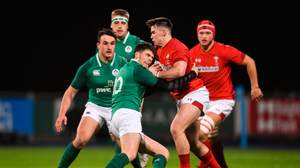23 February 2018; Harri Morgan of Wales is tackled by Harry Byrne of Ireland during the U20 Six Nations Rugby Championship match between Ireland and Wales at Donnybrook Stadium in Dublin. Photo by David Fitzgerald/Sportsfile