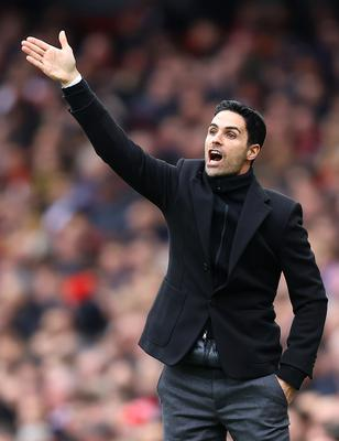 Arsenal manager Mikel Arteta. Photo by Julian Finney/Getty Images