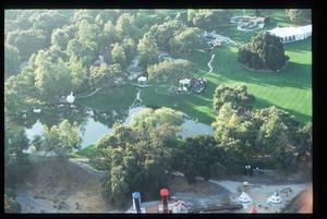 105147 04: An aerial shot of the Never Land Valley Ranch is displayed October 6, 1991 in Los Olivos, CA. Elizabeth Taylor married Larry Fortensky in Michael Jackson's Never Land Valley Ranch amid tight security. (Photo by Douglas Burrows/Liaison)