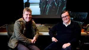 Alan Moloney (left) and James Morris in Windmill Lane studios, Dublin. Photo: David Conachy