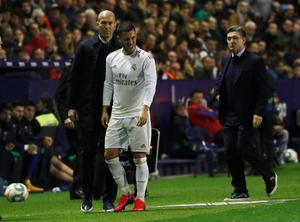 Eden Hazard's disappointing first season at Real Madrid has been disrupted by injury. Photo: REUTERS/Jon Nazca
